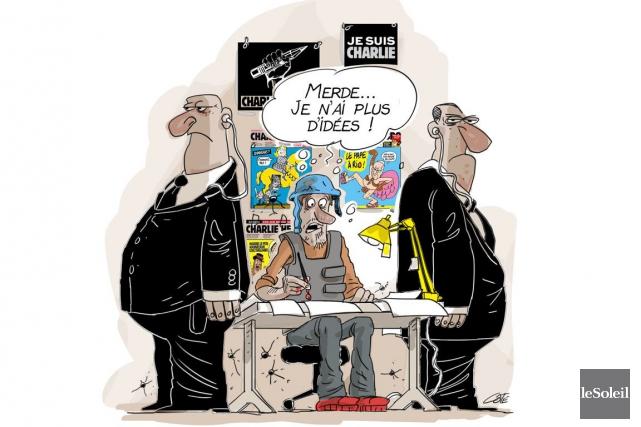 Durant son existence mouvementée, Charlie Hebdo a survécu à la censure, aux... (Le Soleil, André-Philippe Côté)