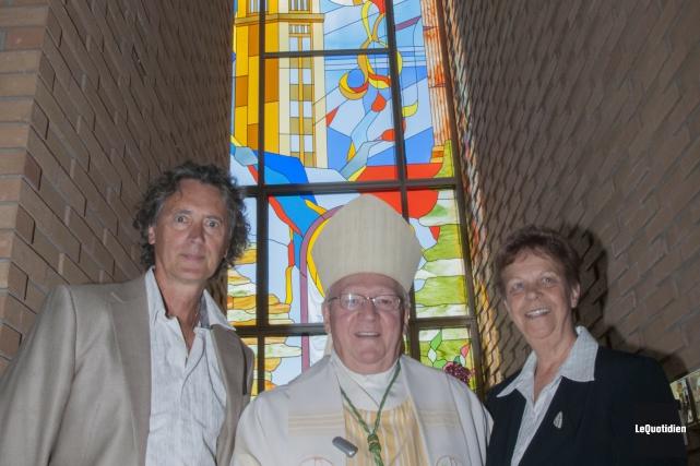 L'artiste Harold Bouchard a participé à l'inauguration de... (. - Photo Le Quotidien, Michel Tremblay)