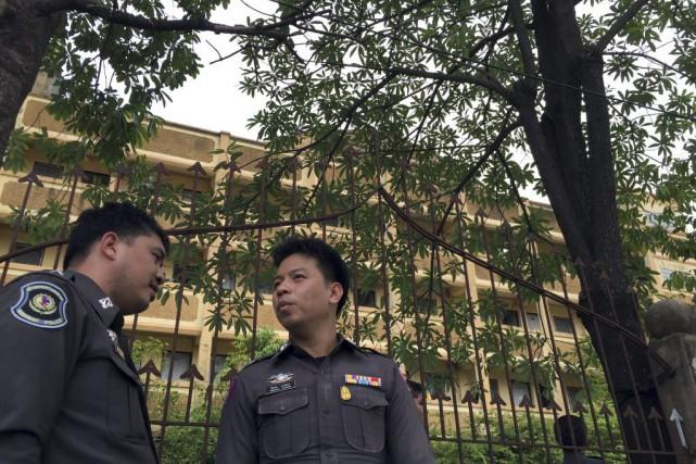 L'individu a été arrêté dans le district de... (Photo Sakchai Lalit, AP)