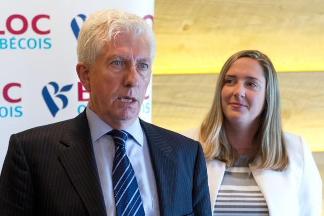 Le chef du Bloc québécois Gilles Duceppe et... (IMACOM, Julien Chamberland)