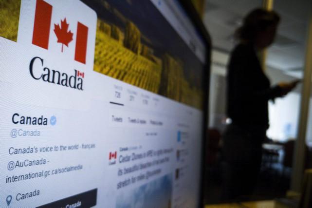 Depuis son lancement en novembre, le compte anglophone... (Giordano Ciampini, La Presse Canadienne)