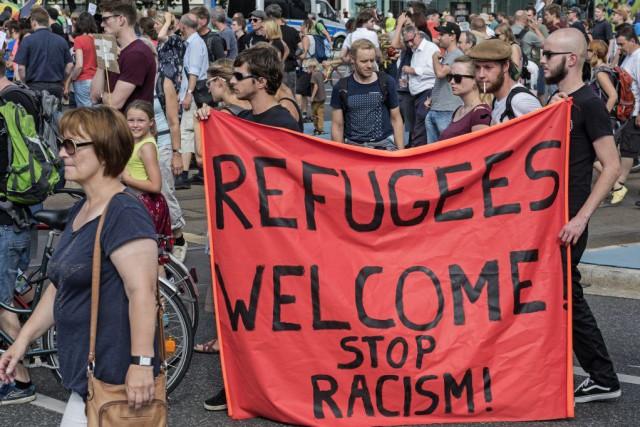 L'Allemagne fait face à un afflux sans précédent... (Photo AP)