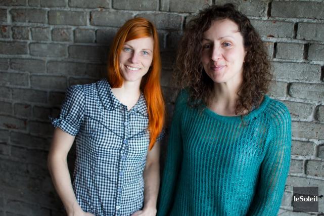 Jacinthe Généreux et Marie-Claude Laurendeau-Desmarais, les deux femmes... (Photothèque Le Soleil)