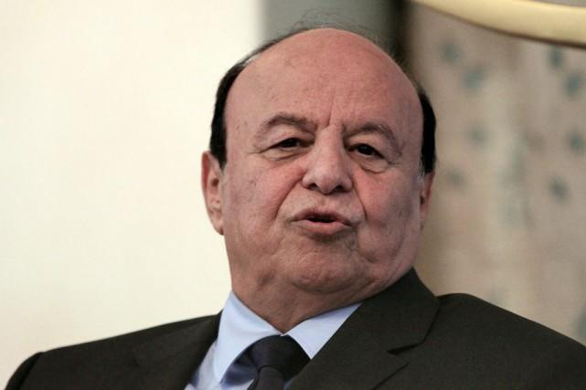 Le président du Yémen Abd Rabbo Mansour Hadi.... (PHOTO MOHAMED NURELDIN ABDALLAH, REUTERS)