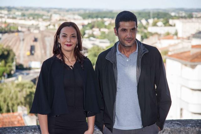 L'actrice Loubna Abidar et le réalisateurNabil Ayouch.... (Photo AFP)