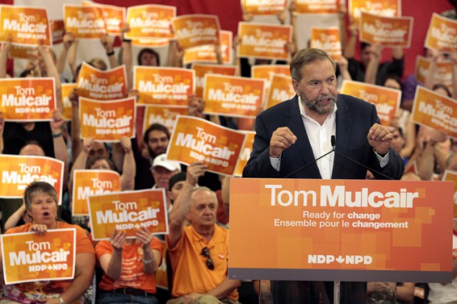 De passage à Halifax, Thomas Mulcair a accusé... (PHOTO PC)