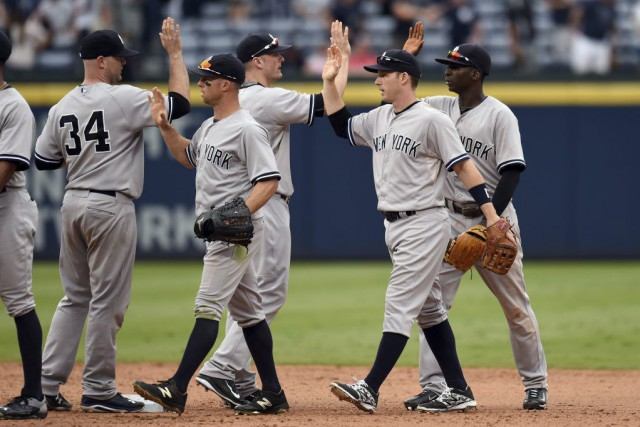 Jacoby Ellsbury a claqué un circuit de trois points, Chase Headley et Stephen... (PHOTO REUTERS)