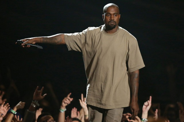 Kanye West dimanche soir lors des MTV VMA.... (PHOTO AP)