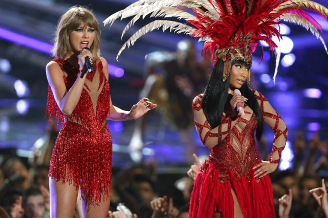 Taylor Swift et Nicki Minaj ont fait la paix... (PHOTO AP)