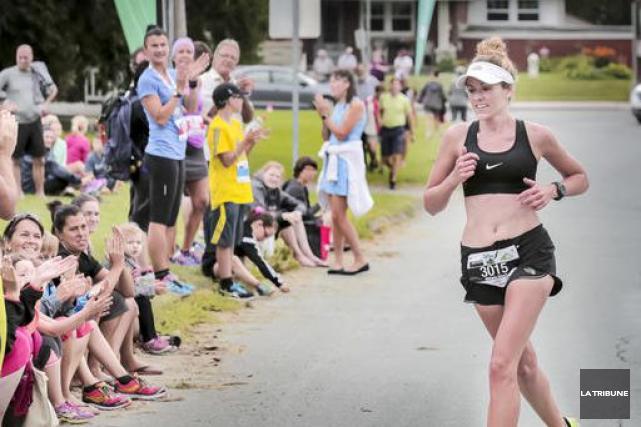 Mélanie Gilbert a été la plus rapide au... (Imacom, Jocelyn Riendeau)