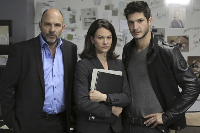 Sylvain Marcel, Fanny Mallette et Éric Bruneau sont... (PHOTO FOURNIE PAR ADDIK.TV)