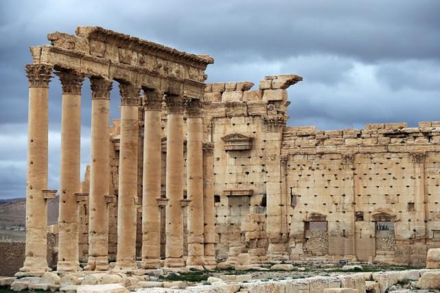 Dans Palmyre, surnommé la «perle du désert», le... (PHOTO JOSEPH EID, ARCHIVES AFP)