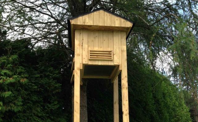 Chez Picotte, nous avons désormais un nichoir pour... (Photo Le Progrès-Dimanche, Mélissa Viau)