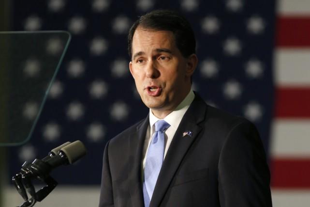 Lors d'une entrevue, le candidat à l'investiture républicaine... (PHOTO AP)