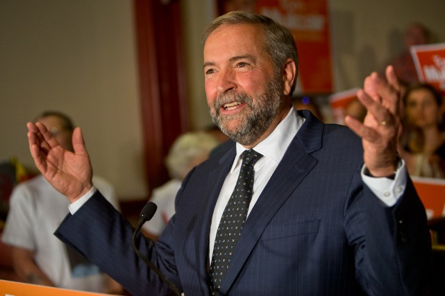 Dans le plus récent sondage Abacus, Thomas Mulcair... (Photo Patrick Sanfaçon, La Presse)