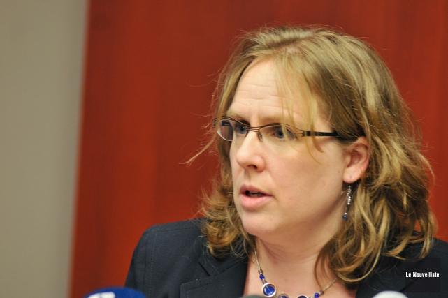 Dre Isabelle Goupil-Sormany, directrice de santé publique et... (Photo: Émilie O'Connor Le Nouvelliste)