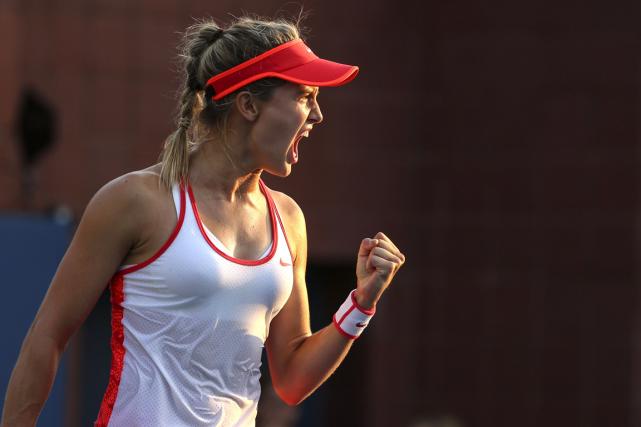 Eugenie Bouchard a remporté une victoire réconfortante en... (Photo Kena Betancur, AFP)