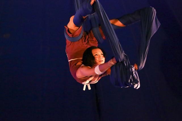 Quand Noémie Gervais a fondé la compagnie Vague de cirque avec son conjoint... (Photo fournie)