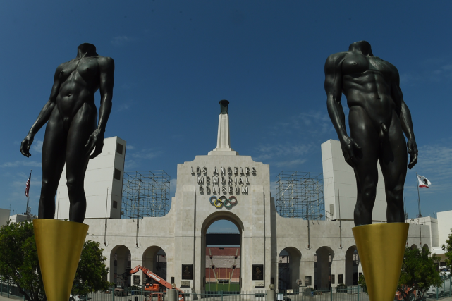 Le Los Angeles Memorial Coliseum, le stade utilisé pour... (Photo Mark Ralston, AFP)