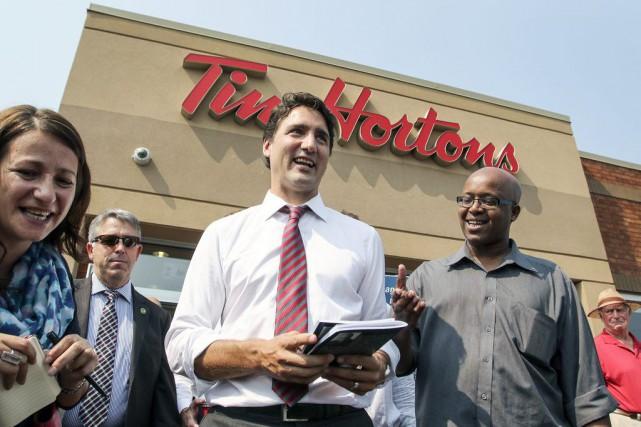 Le chef libéral a effectué une visite remarquée...