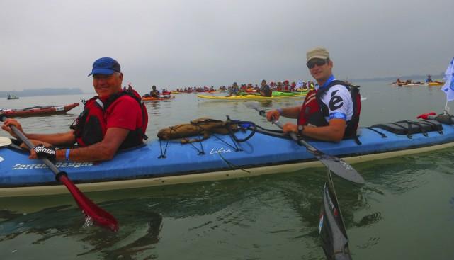 Le duo composé du Bromontois Robert Désourdy et... (Photo fournie par les kayakistes)