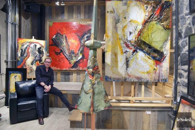 Pour exposer ses oeuvres dans sa nouvelle galerie,... (Le Soleil, Jean-Marie Villeneuve)