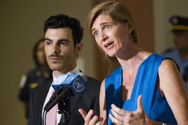 L'ambassadrice américaine aux Nations unies, Samantha Power.... (PHOTO AFP)