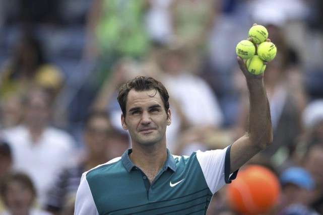 Roger Federer n'a fait qu'une bouchée deLeonardo Mayer... (CARLO ALLEGRI)