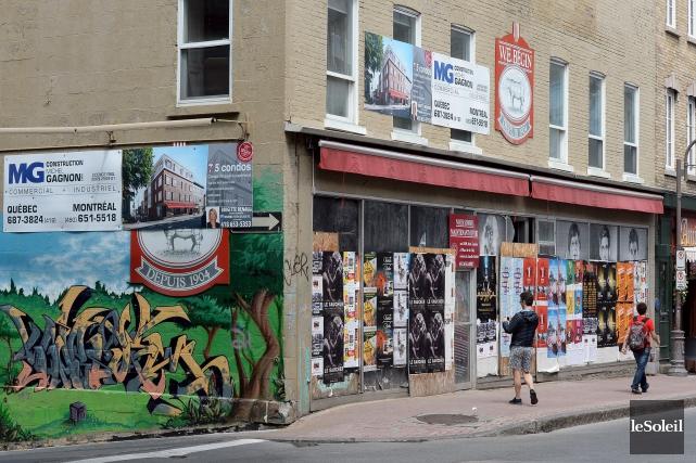 La bâtisse de l'ancienne boucherie W.E. Bégin, laissée... (Photothèque Le Soleil, Erick Labbé)
