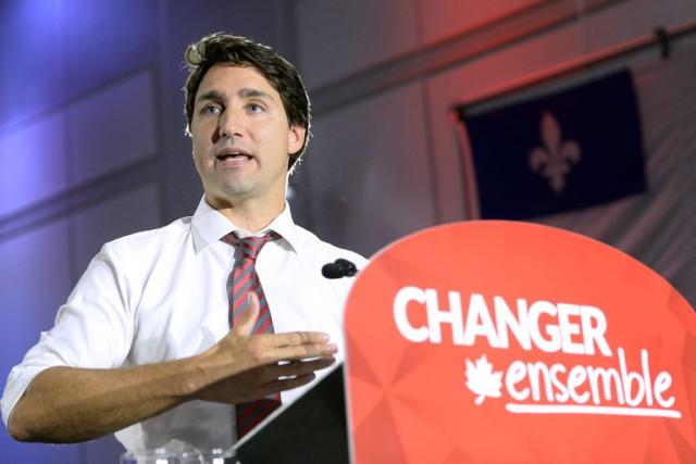 Le chef libéral Justin Trudeau a fait un...