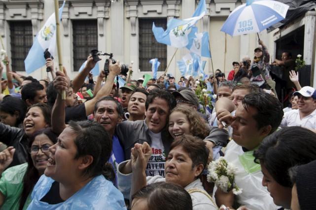 C'est la première fois dans l'histoire du Guatemala... (PHOTO REUTERS)