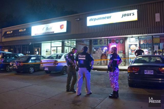 Un homme de 34 ans a été victime d'une agression armée mardi soir tout près de... (PHOTO FÉLIX O.J. FOURNIER, COLLABORATION SPÉCIALE)