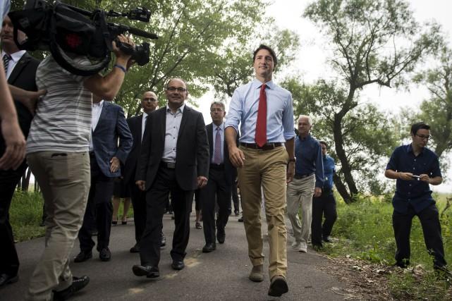 Justin Trudeau était de passage à Trois-Rivières mercredi... (La Presse Canadienne, Paul Chiasson)