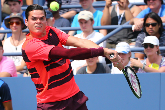 Le Canadien Milos Raonic a accédé au troisième tour... (Photo Anthony Gruppuso, USA Today)