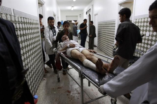 Le Yémen, déchiré par la guerre, a connu une nouvelle journée sanglante... (PHOTO AFP)