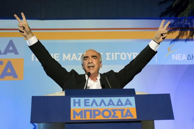 Le dirigeant de la Nouvelle Démocratie, Vangélis Meïmarakis,... (PHOTO AFP)