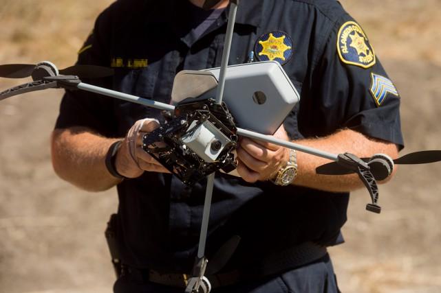 La police américaine utilise déjà des drones. Sur... (Photo archives AP)