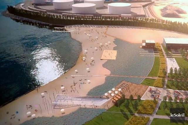 Une esquisse du projet d'agrandissement du port de... (Photothèque Le Soleil)