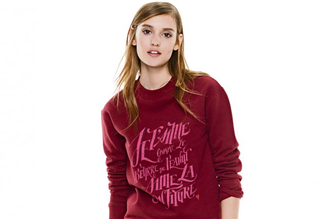 Le sweat Amour gourmand de Jill Lecours, 38... (Photo fournie par Simons)