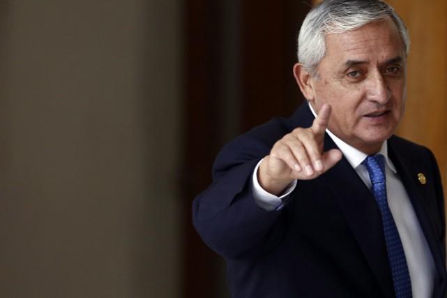 Le président démissionnaire du Guatemala Otto Pérez.... (PHOTO ARCHIVES AP)