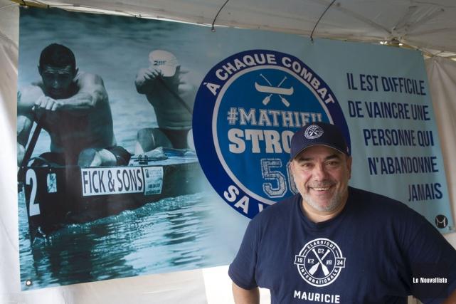 Stéphane Boileau a dévoilé avec joie que Mathieu... (Photo: Stéphane Lessard, Le Nouvelliste)