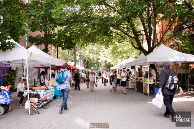 Le marché Prince-Arthur est encore à l'état de... (PHOTO NINON PEDNAULT, LA PRESSE)