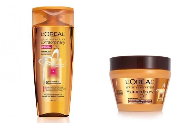 Shampoing et revitalisant, masque-baume, vaporisateur à l'huile sec... (Photo fournie par l'Oréal)