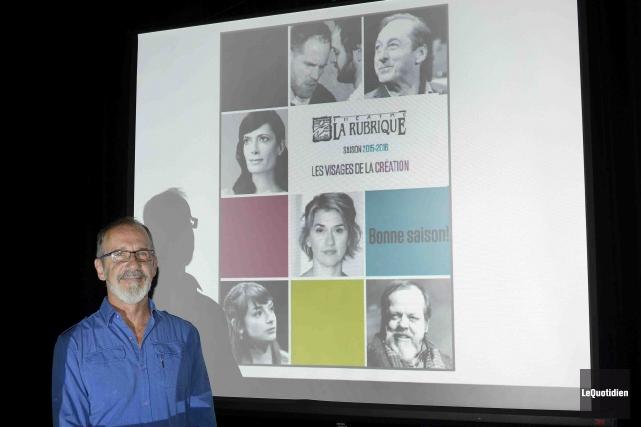 Le directeur artistique du Théâtre La Rubrique, Benoit... (Photo Le Quotidien, Jeannot Lévesque)