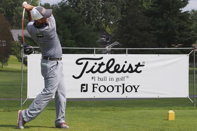 Le golfeur de l'heure au Québec, Dave Lévesque,... (Photo Alain Dion)