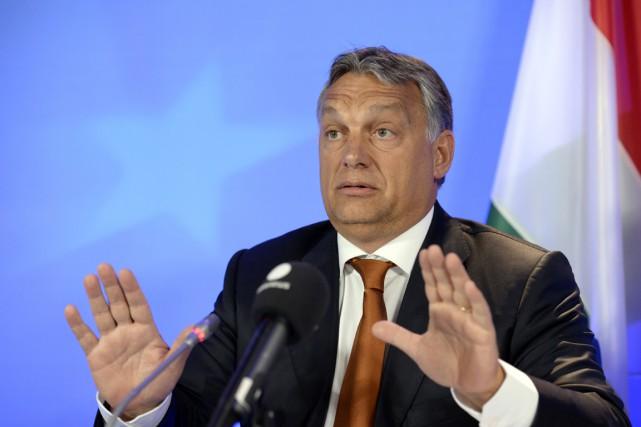 Le premier ministre hongrois Viktor Orban a rejeté... (Photo THIERRY CHARLIER, AFP)