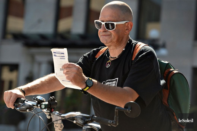 Gilles Frénette a écopé d'une amende de 440$... (LE SOLEIL, Patrice Laroche)