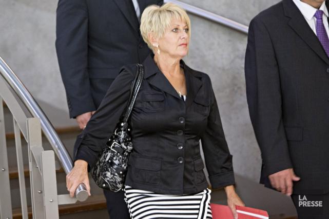 Carole Durand, l'ancienne conjointe de Michel Mathieu, tué... (PHOTO PATRICK SANFAÇON, LA PRESSE)