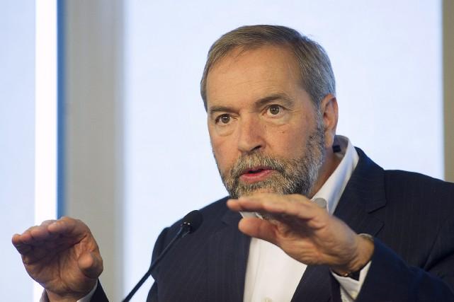 De passage à Brossard, le chef du NPD... (La Presse Canadienne, Graham Hughes)