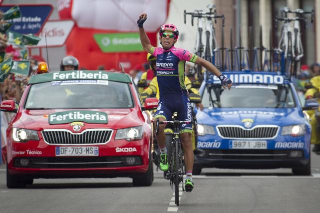 Le Portugais Nelson Oliveira a remporté la 13eétape... (Photo Jaime Reina, AFP)